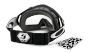 MX Goggles Number Plate Strap Wrap - Black