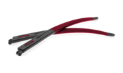 Crosslink® Pitch® Accessory Temples - Satin Black/Cardinal Red