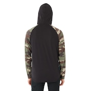 Lakeside Long Sleeve Knit Hoodie - Blackout