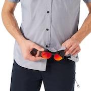 ss Solid Woven Shirt - Fathom