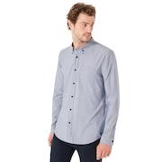 LS Solid Woven Shirt - Fathom