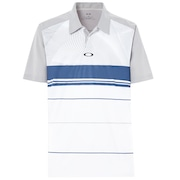Aero Motion Block Polo - Stone Gray