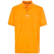 Aero Stripe Jacquard Polo - Neon Orange