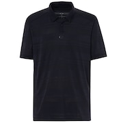 Aero Stripe Jacquard Polo - Blackout