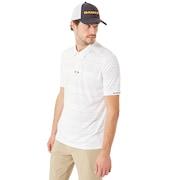 Aero Stripe Jacquard Polo - White