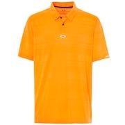 Aero Stripe Jacquard Polo - Neon Orange