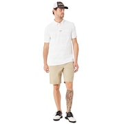 Aero Stripe Jacquard Polo - White