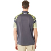 Aero Sleeve Graphic Polo - Graphite