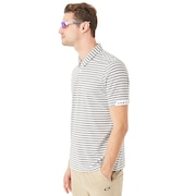 Speed Stripe Polo - White