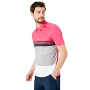 Color Block Take Polo - Fuchsia