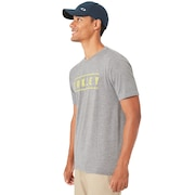 O-Double Stack Tee - Athletic Heather Gray