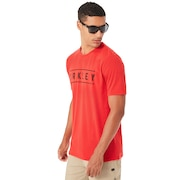 O-Double Stack Tee - Red Line
