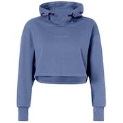 Oakley Luxe Crop Po Hoodie - Blue Indigo