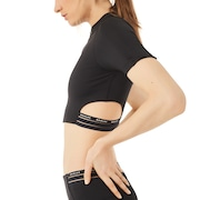 Oakley Luxe Crop Zip Top - Blackout