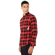 Icon Flanel Long Sleeve Shirt - Red Line