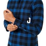 Icon Flanel Long Sleeve Shirt - Dark Blue