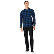 Icon Flanel LS Shirt - Dark Blue