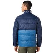 Puffer Block Color Utility Jacket - Fathom