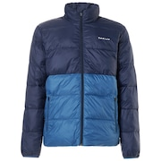 Puffer Block Color Utility Jacket - Fathom