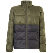 Puffer Block Color Utility Jacket - Dark Brush