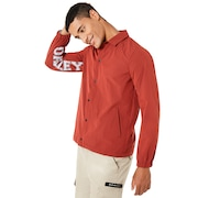 Nylon Icon Coach Jacket - Iron Red
