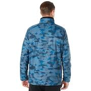 Enhance Graphic Wind Warm Jacket 8.7 - Blue Storm Print