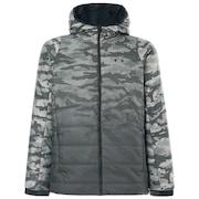 Enhance Insulation Quilting Jacket 8.7 - Green Print