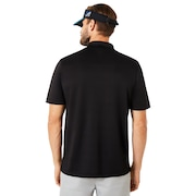 Polo Short Sleeve Bomber Collar - Blackout