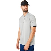 Polo Short Sleeve Bomber Collar - STONE GRAY