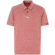Aero Ellipse Polo - Iron Red Light Heather
