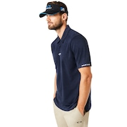 Aero Ellipse Polo - Fathom Heather