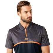 Polo Shirt Short Sleeve Color Block Camou - Blackout