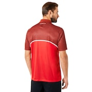 Polo Shirt Short Sleeve Color Block Camou - Red Line