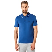 Polo Shirt Short Sleeve Ribbed Detailong Sleeve