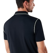 Polo Shirt Short Sleeve Ribbed Detailong Sleeve - Blackout