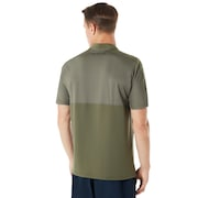 Engineered Short Sleeve Polo Bomber Collar - Dark Brush