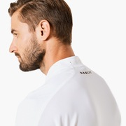 Engineered Short Sleeve Polo Bomber Collar - White