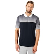 Polo Shirt Short Sleeve Sublimated Jacquard - Blackout