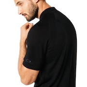 Polo Short Sleeve Engineered Knit - Blackout
