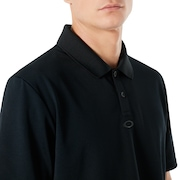 Polo Shirt Short Sleeve Perforated - Blackout