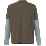 Polo Shirt Long Sleeve Printed Sleeve - Dark Brush