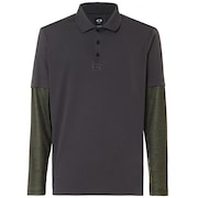 Polo Shirt Long Sleeve Printed Sleeve - Forged Iron