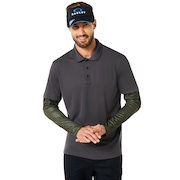 Polo Shirt Long Sleeve Printed Sleeve