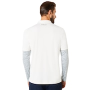 Polo Shirt Long Sleeve Printed Sleeve - Arctic White