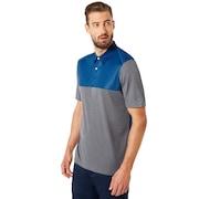 Polo Shirt Short Sleeve Color Block - Athletic Heather Gray