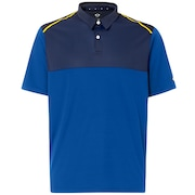 Polo Shirt Short Sleeve Color Block - Dark Blue