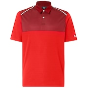 Polo Shirt Short Sleeve Color Block - Red Line