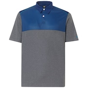 Polo Shirt Short Sleeve Color Block - Athletic Heather Gray