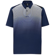 Polo Shirt Short Sleeve Striped Ellipse - Fathom