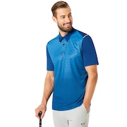Polo Shirt Short Sleeve Striped Ellipse - Dark Blue